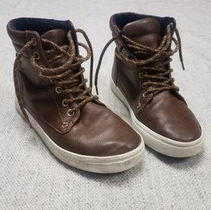 Old Navy Brown Leather Hightops